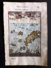 Mallet, Alain Manesson 1683 Hand Coloured Map of Karpathos, Greece