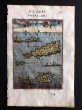 Mallet, Alain Manesson 1683 Hand Coloured Map of Nisyros, Greece