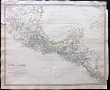 SDUK 1830's Map of Mexico and Central America