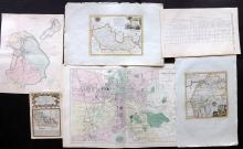 UK 18th-19th Century Group of 6 Maps