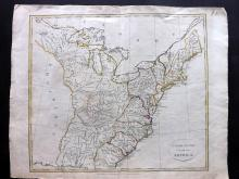 USA 1799 Uncommon Map by Clement Cruttwell