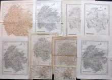 Hereford 19th Century Lot of 11 Maps