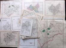 Leicestershire & Rutland 18th-19th Century. Lot of 18 Maps