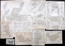 UK 19th Century Lot of 10 Maps