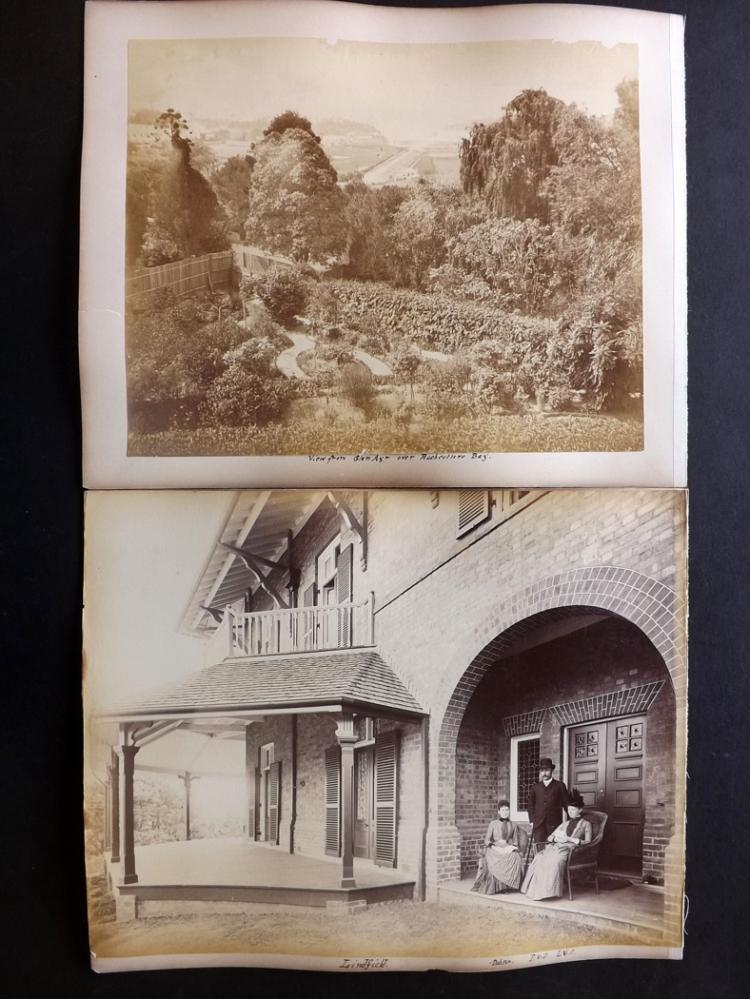 Australia 1889 Group of 4 Albumen Prints. Lindfield, Sydney