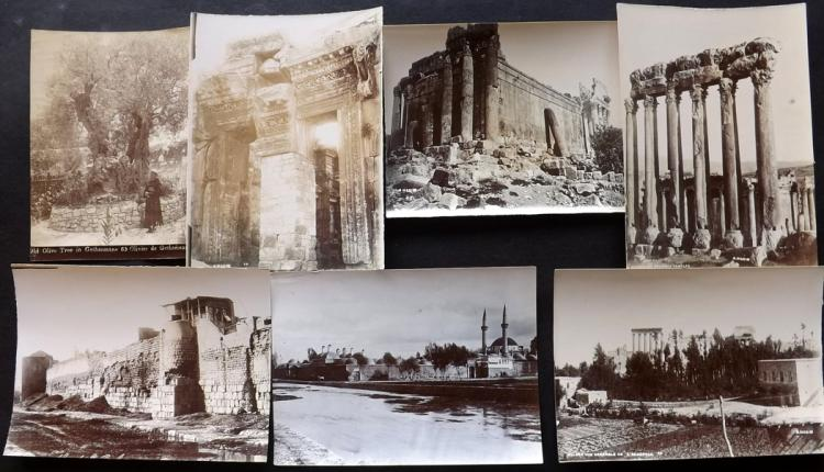 Holy Land C1890's Lot of 7 Photographs. Lebanon & Israel by S. Hakim et al