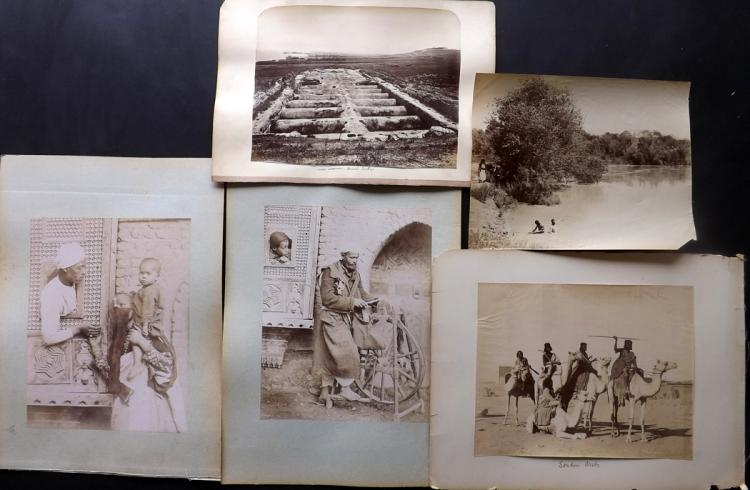 North Africa - Tunisia, Algeria, Sudan C1880 Lot of 12 Albumen Prints by Zangaki etc