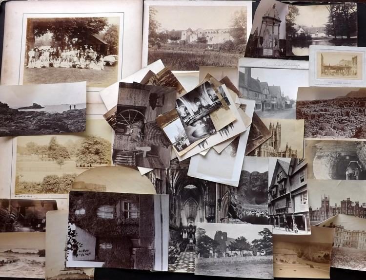 UK C1870-1910 Lot of 40 Photographs, mostly Albumen Prints