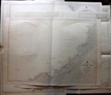 Admiralty Charts 1950-60 Mixed Group of 5 Large Maps. Canada, Japan, Canarys/Azores, Corsica, Cornwall
