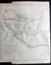 Arrowsmith, John 1840's Large Map of the West Coast of Africa comprising Guinea
