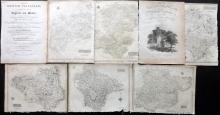British County Maps 1819 Lot of 6 from Dugdale's New British Traveller