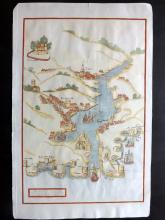 Devon 1810 Hand Coloured Map of Dartmouth Haven from Magna Britannia