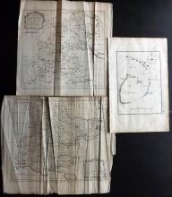 Essex - Bowen, Thomas & Emanuel 1768 Group of 3 Maps From Morant's Essex