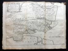 Essex - Bowen, Thomas & Emanuel 1768 Map of Barstable, Rochford & Dengy from Morant's Essex