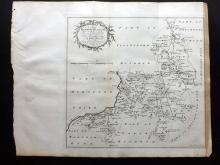 Essex - Bowen, Thomas & Emanuel 1768 Map of Dunmow & Harlow from Morant's Essex