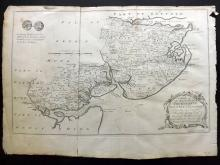 Essex - Bowen, Thomas & Emanuel 1768 Map of Thurstable, Winstree & Tendering from Morant's Essex