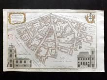 London - Maitland, William 1756 Hand Coloured Map of Aldgate Ward