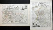 Malte-Brun, Conrad 1812 Pair of Maps of Germany