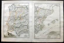 Malte-Brun, Conrad 1812 Pair of Maps of Spain