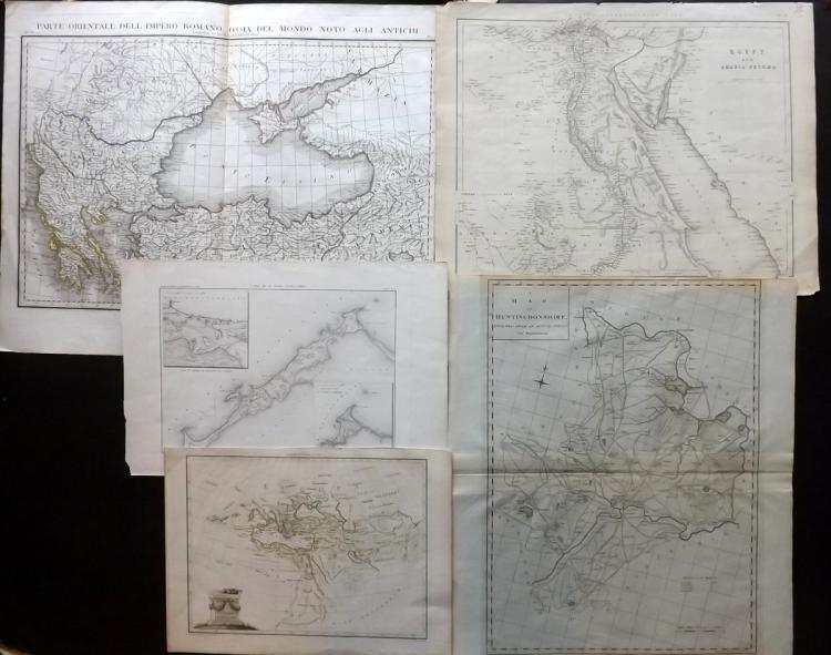Maps 1788-C1850 Mixed lot of 5.