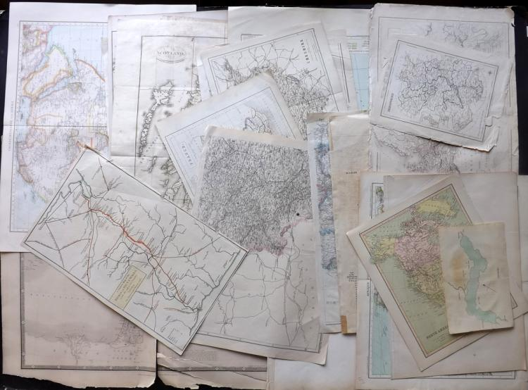 Maps C1660-1900 Lot of 25. UK, Middle East, Africa, Europe