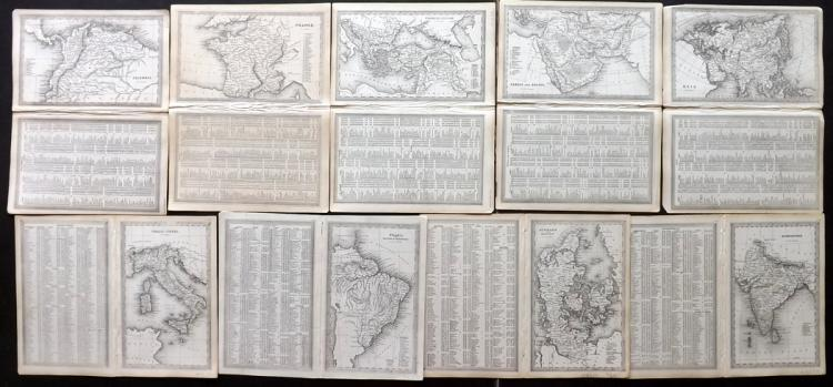 Starling, Thomas 1834 Mixed Lot of 9 Maps
