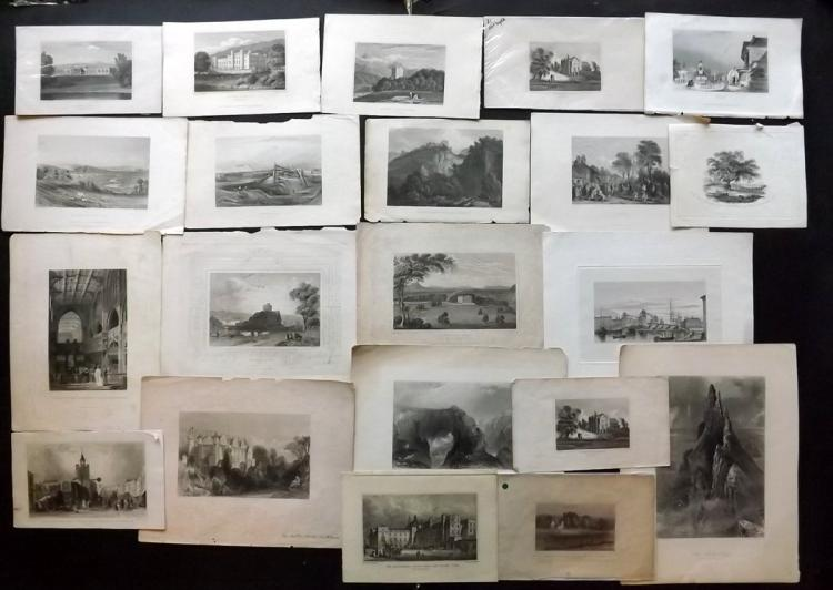 British Views C1830-75 Lot of 21 Steel Engravings