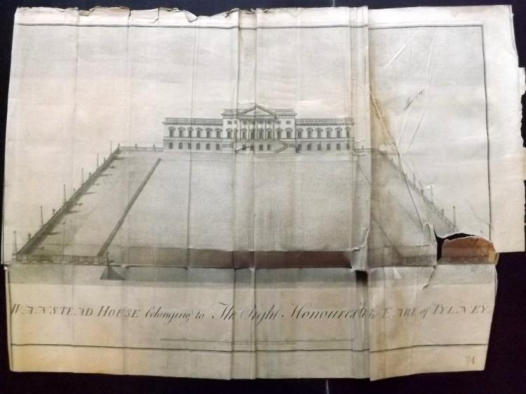 Essex - Wanstead House 1768 Large Architectural Print From Morant's Essex (Faults)