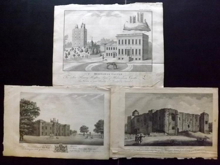 Essex 1768 Group of 3 Architectural Prints From Morant's Essex