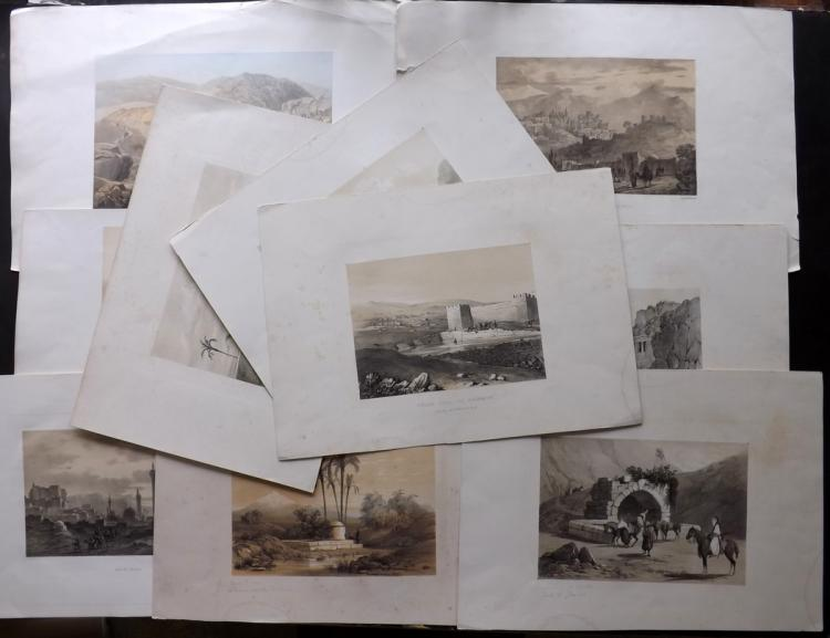 Holy Land C1850's Good Group of 10 Large Lithographs. Israel, Palestine, Lebanon