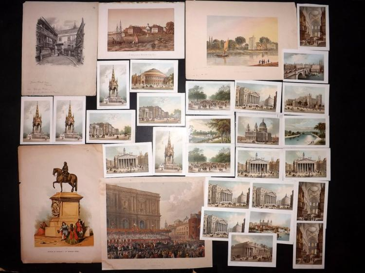 London C1860-90 Lot of 30 Chromolithographs