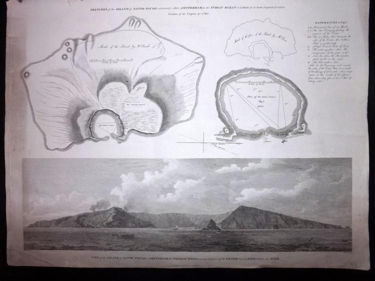 Staunton, George Leonard - Amsterdam Island 1797 Large Print of the Conical Rock