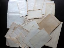 Laid & Wove Paper, Bookbinding 18th-19th Century Lot of approx 30 Sheets