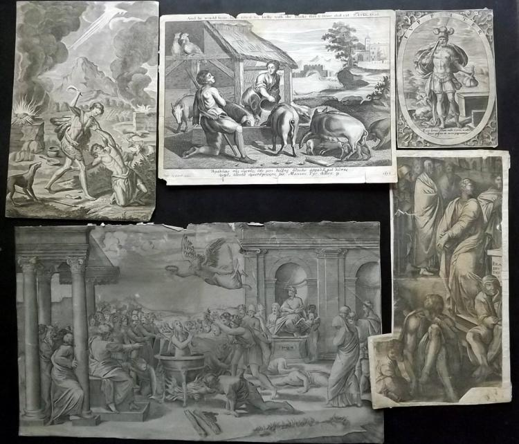 Old Master Engravings 17th-18th Century, Lot of 8