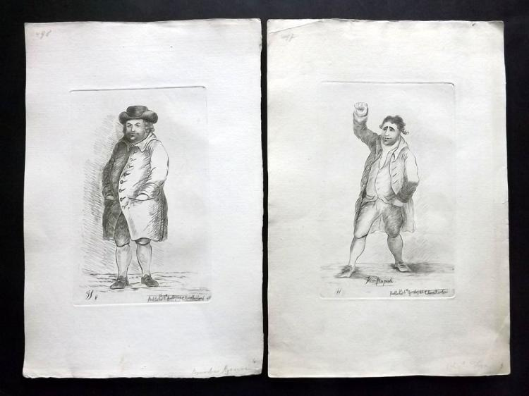 Sayers, James 1782 Pair of Etched Political Satires. Charles James Fox & Bamber Gascoyne