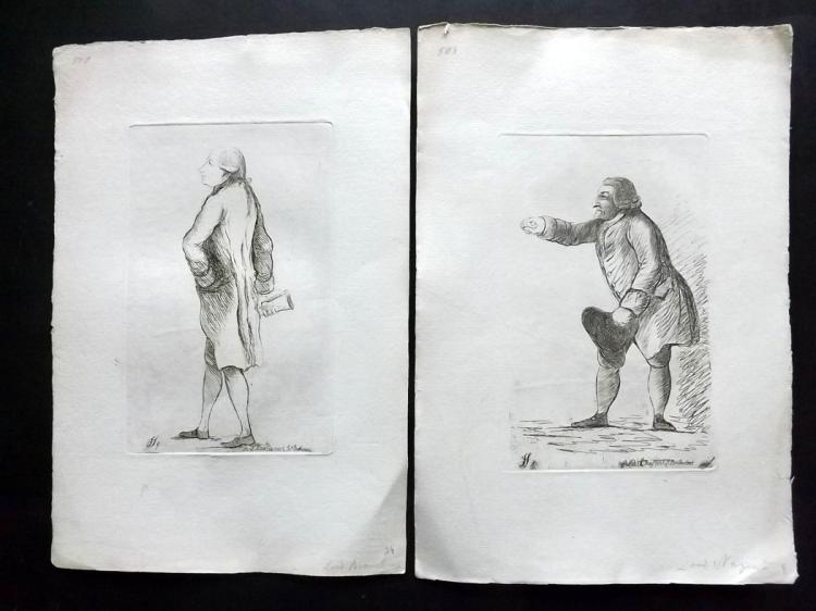 Sayers, James 1782 Pair of Etched Political Satires. Robert Nugent & Francis Seymour Conway