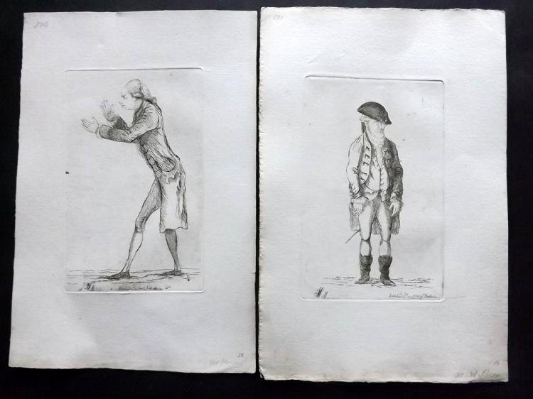 Sayers, James 1782 Pair of Etched Political Satires. Thomas Powys, Baron Lilford & John Wilkes
