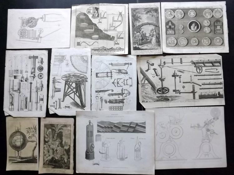 Science & Tech C1760-1870 Lot of 20 Engravings