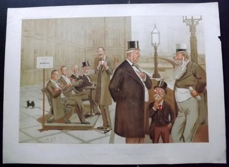 Vanity Fair Print - Double Page Supplement 1893 On the Terrace