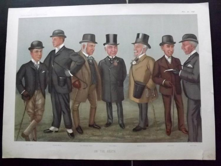Vanity Fair Print - Double Page Supplement 1896 On The Heath