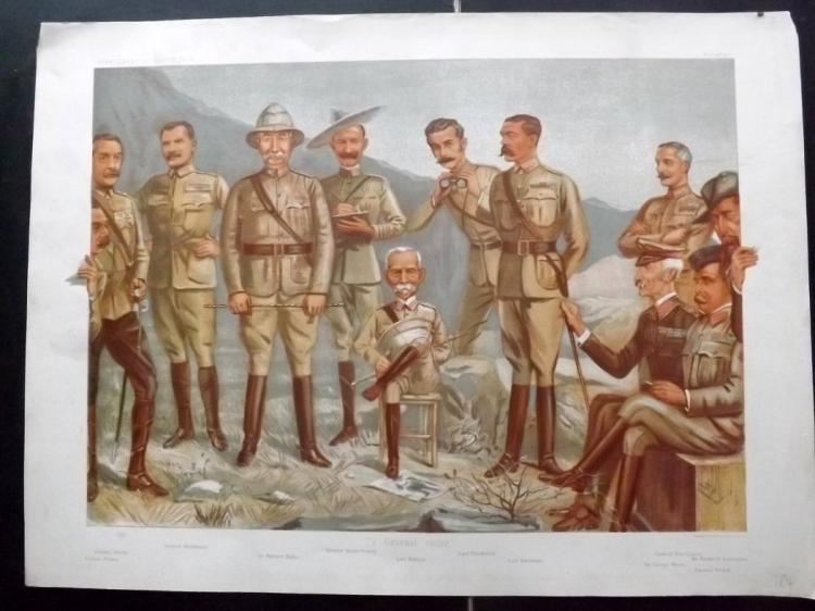 Vanity Fair Print - Double Page Supplement 1900 A General Group. Military, Boar War