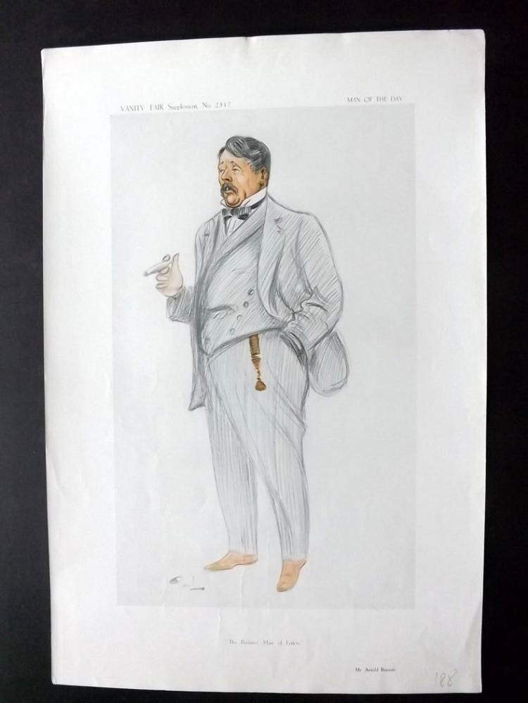 Vanity Fair Print - Literary 1913 Arnold Bennett