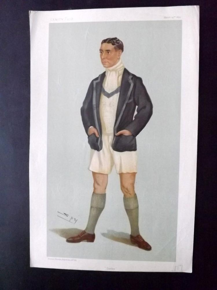 Vanity Fair Print - Rowing 1899 Harcourt Gilbey Gold