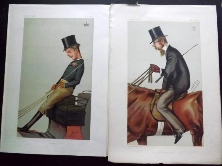 Vanity Fair Prints (3) Sport Riders 1874-82 Group of 3 Spy Cartoons