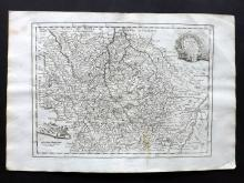 Le Rouge, George Louis 1748 Map of Lorraine, France