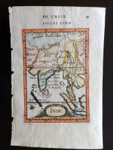 Mallet, Alain Manesson 1683 Hand Coloured Map of India