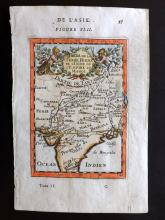 Mallet, Alain Manesson 1683 Hand Coloured Map of India & Mughal Empire
