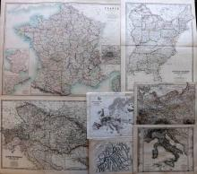 Maps 19th Century Mixed Lot of 7