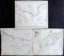 SDUK (Pub) 1830's Group of 3 Maps of North Africa. Libya, Tunisia