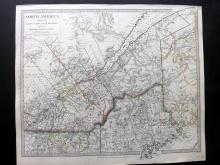 SDUK (Pub) 1830's Map of Lower Canada, New York, Vermont